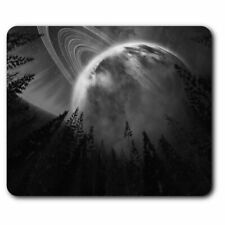 Rectangle Mouse Mat BW - Cool Space Alien Planet Solar System  #41066