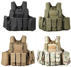 Royal Tattico Ciras Tactical Vest Modulare In Cordura Militare Esercito Softair