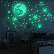 Wandtattoo Wandsticker Wandaufkleber Kinderzimmer 435 Leuchtsterne Mond Sterne