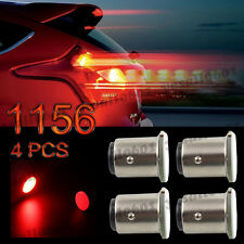 4x Red 1156 BAY15S 12 Chips COB LED Turn Signal Tail Stop Rear Light Bulb Lamp