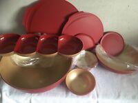 Tupperware Allegra Set in rot /gold neu