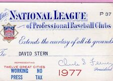 1977 Andre Dawson First HR Ticket Pass 268 HR Life/At Braves Vs Montreal Expos