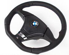 Tuning Abgeflacht Lederlenkrad BMW E31 E34 E36 E39 Z3 Lenkrad mit Airbag  silver