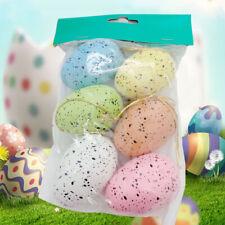 IG_ 6Pcs Easter Plastic Bird Pigeon Eggs Kid Festival Gift Home Party DIY Decor