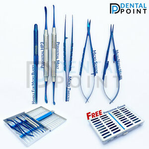 Micro Periodontal Surgery Set of 6 Titanium Coated Dental Surgery instruments