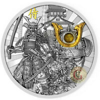 SAMURAI Warriors Antique Finish Coin 2 Oz Silver $2, 2019 Niue