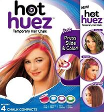 TINTURA TINTA TEMPORANEA CAPELLI 4 COLORI HOT HUEZ PARTY FESTE