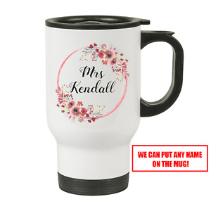 Personalised Teacher White Travel Mug - Perfect Gift For A Teacher by FPD