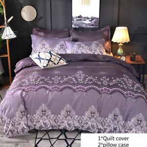 3Pcs/set Lace Pattern Bedding Set Duvet Cover Luxury Soft Pillowcover Queen King