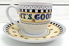 Vintage Mary Engelbreit Its Good To Be Queen Tea Cup & Saucer Plate Me Ink