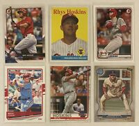 ⚾️Rhys Hoskins 6-CARD LOT including ROOKIE 2018 Bowman #10
