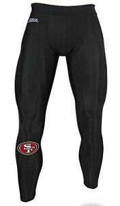 Zubaz San Francisco 49ers Men's Size Large Solid Black Leggings Pants C1 1643