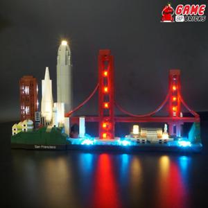 Game of Bricks LED Light Kit ONLY for San Francisco 21043