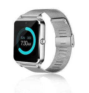 Silver Smart Watch For Samsung iPhone 8 X XR XS MAX LG G8 G7 Android Wrist Phone