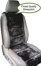 SHEEPSKIN SEAT COVERS ONE SEAT VEST INSERT BEST QUALITY AUSTRALIAN BLACK COLOR ©