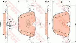 Rear TRW Brake Pads For BMW 5 series F07 7 series F01 2 3 4 GDB 1857