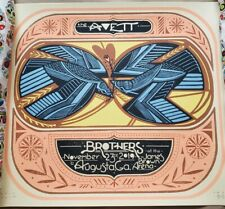 The Avett Brothers Poster 2019 Augusta, GA Signed/#20 AP Rare!!! Sold Out!!!