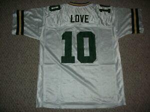JORDAN LOVE Unsigned Custom White Green Bay Sewn New Football Jersey Sizes S-3XL