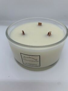 VEGAN FRIENDLY, handmade, highly scented Fresh Linen 3 Wick Soy Wax Candle