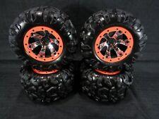 NEW Traxxas 1/10 Summit Canyon AT Tires & 17mm Chrome Geode Wheels Orange