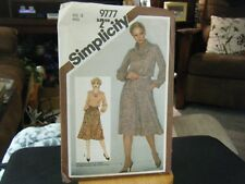 Simplicity 9777 Misses Cowl Neck Top or Dress & Skirt Pattern - Size 12 Bust 34