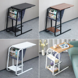 Living Room Bedside Sofa Side End Table C Shaped Coffee Laptop Desk Home Office