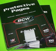 200 PRO 2-POCKET #10 BUSINESS ENVELOPE PAGES, FOR COVERS, PHOTOS, COUPONS, ETC