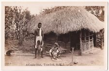 Trinidad and Tobago B.W.I.  A Coolie Hut  Real Photo Postcard