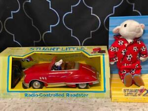 Vintage Suart Little Radio Shack Roadster RC Car & Hasbro Stuffed Action Figure