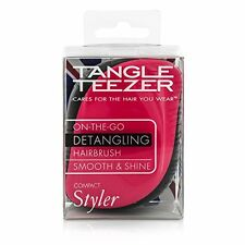Tangle Teezer Compact Styler Hair Brush, Black and Pink