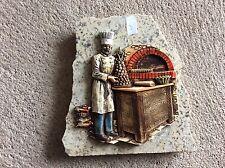 Decoration boulanger sur plaque de marbre Vintage (3)