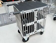 "Titan 4 Berth Toy Dog Aluminium Dog Show Trolley with 8"" All Terrain Wheels"