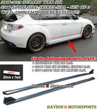 S206-Style Side Skirts (PU) + 2 Emblems Fits 08-14 Impreza WRX STi
