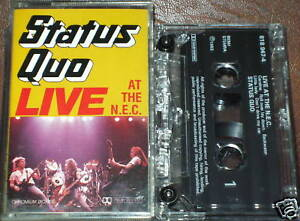 STATUS QUO LIVE AT THE N E C CASSETTE