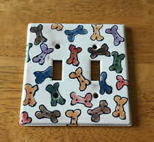 Ceramic dog-themed wall plate
