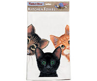 RETRO COTTON KITCHEN TOWEL FIDDLERS ELBOW  Peeping Toms Towel  Made In USA  K29