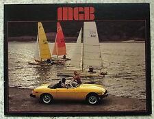 MG MGB USA Car Sales Brochure 1978 #400M 1/78