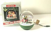 1989 Hallmark Magic Ornament Light Motion Spirit of St Nick Seale Vtg Box Works