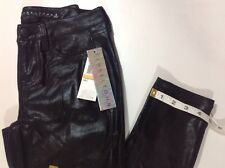 NEW TINSELTOWN Faux Coated Black Leather Jeans Size 3 Stretch Skinny Leg Pants