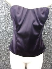 LADIES PURPLE   SATIN EFFECT BASQUE REMOVABLE STRAP  NWT SIZE 12 BY  COAST