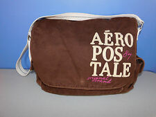 AEROPOSTALE BROWN AND BEIGE MESSENGER, CROSS BODY BAG