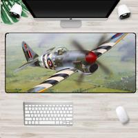 XXL Gaming Mauspads Groß Flugzeug Mausunterlage Computer PC Mousepad Spitfire