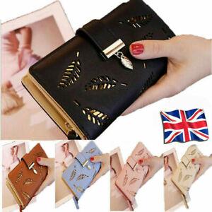 UK Women Ladies Leather Long Wallet Zip Purse Card Phone Case  Holder Handbag#
