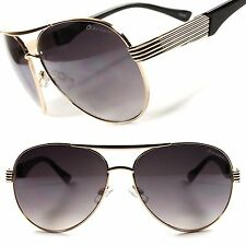 Trendy Vintage Retro Cool Mens Womens Air Force Style Gold Frame Sunglasses D65