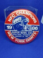 SUPER  BOWL XXI, NEW YORK GIANTS FOOTBALL PIN-1986