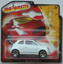 Majorette Fiat 500 weiß Neu/OVP ältere Radvariante Kleinwagen Auto Car PKW white
