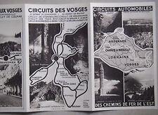 🔵 DÉPLIANT 1932 CIRCUITS AUTOMOBILES ARDENNES LORRAINE VOSGES REIMS VERDUN