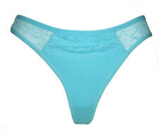 New BLUE Cotton floral lace Bikini Thong Tanga Sexy women panty panties Sz M