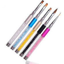 Pinceau Brosse Ongle Cristal Strass Decoration Liner Stylo Manicure Nail Art Pen