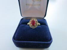 Bague rubis diamant 18K.